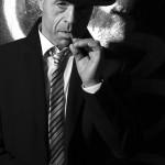 Gerd-Film noir-hartes Licht-Tür als Hintergrund